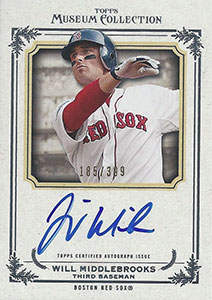Will Middlebrooks Autograph on a 2013 Topps Museum Collection (#185/399)