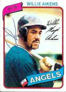 Willie Aikens Autograph on a 1980 Topps (#368)