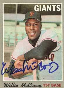 Willie McCovey Autograph on a 1970 Topps Baseball Card (#250 | <a href='../baseball_cards/baseball_cards_oneset.php?s=1970top01' title='1970 Topps Baseball Card Checklist'>Checklist</a>)