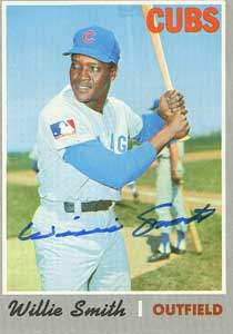 Willie Smith Autograph on a 1970 Topps Baseball Card (#318 | <a href='../baseball_cards/baseball_cards_oneset.php?s=1970top01' title='1970 Topps Baseball Card Checklist'>Checklist</a>)