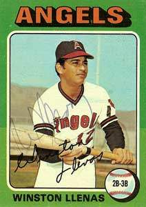 Winston Llenas Autograph on a 1975 Topps Baseball Card (#597 | <a href='../baseball_cards/baseball_cards_oneset.php?s=1975top01' title='1975 Topps Baseball Card Checklist'>Checklist</a>)
