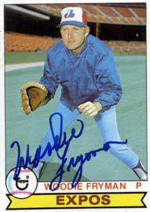 Woodie Fryman Autograph on a 1979 Topps (#269)