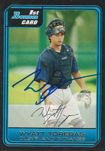 Wyatt Toregas Autograph on a 2006 Bowman (#B23)