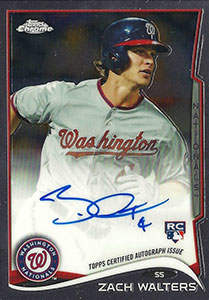 Zach Walters Autograph on a 2014 Topps Chrome (#62)