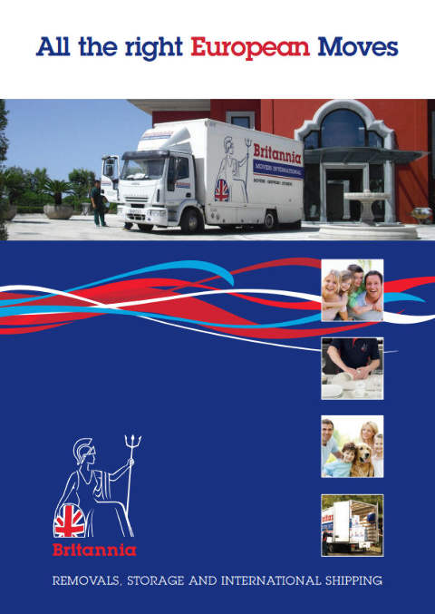 European removals brochure courtesy of Britannia Movers International