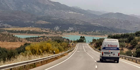 12m3 Britannia removal van on a delivery to Malaga (Spain)