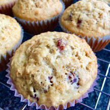 Orange-Scented Oat & Dried Cherry Muffins