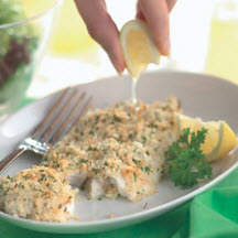 Baked Haddock with Lime Crust