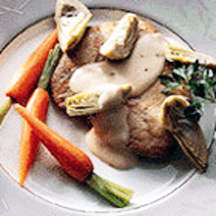 Sautéed Turkey & Artichokes in White Wine Sauce