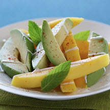 California Avocado and Mango with Yogurt, Honey and Lime