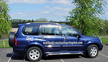Travel around Scotland by car.  Picture of my car